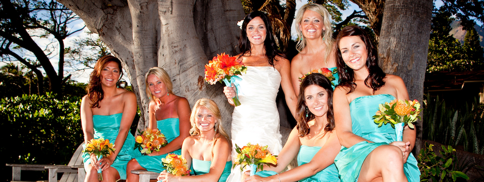 Maui Bride & Bridesmaids